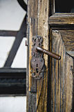 Дверь замока отрубей Стоковое Фото