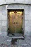 дверь золотистая Стоковое Изображение