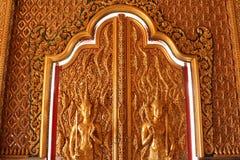Дверь искусства Будды Стоковая Фотография