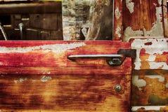 Дверь и ручка приемистости виллиса Junked Стоковое Изображение