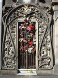 дверь кладбища стоковое изображение