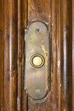 дверь кнопки колокола старая Стоковая Фотография