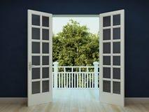 Дверь, который нужно садовничать Стоковая Фотография