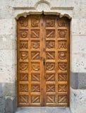 дверь крупного плана старая Стоковое Фото