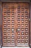дверь крупного плана старая Стоковое Изображение