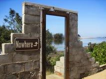 Дверь к нигде Стоковая Фотография RF