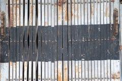 Дверь металла в Азии Стоковое фото RF