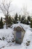 Дверь металла в укрытии бомбы Стоковая Фотография RF