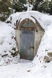 Дверь металла в укрытии бомбы Стоковое Изображение