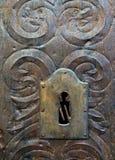 Дверь металла средневековая Стоковая Фотография