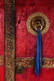 Дверь монастыря Spituk Ladakh, Индия стоковое фото rf