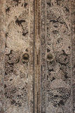 Дверь настенной росписи дракона Стоковые Изображения