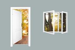 дверь новая к миру Стоковые Изображения