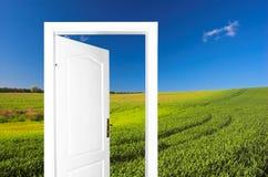 дверь новая к миру Стоковые Изображения RF