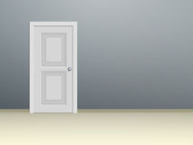 Дверь обшитая панелями белизной Стоковые Фото