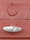 Дверь оранжевого красного цвета Стоковое Фото
