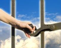 Дверь отверстия руки на небе Стоковые Изображения