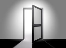 дверь открытая иллюстрация штока