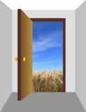 дверь открытая Стоковое Изображение