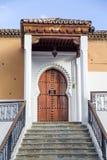 Дверь от Chefchaouen, Марокко Стоковая Фотография RF