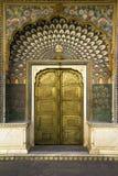 Дверь павлина в Джайпуре, Индии Стоковое Фото