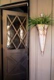 Дверь патио с стеклянным окном Стоковое Фото
