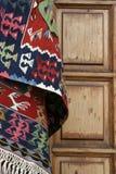 Дверь половика и древесины Стоковое Изображение RF