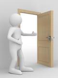 дверь приглашает пропуск человека открытый к иллюстрация вектора