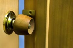 Дверь приоткрытая Стоковая Фотография