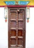 Дверь древнего храма в Индии Стоковая Фотография RF