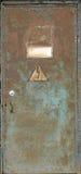 дверь ржавая Стоковая Фотография