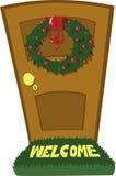 Дверь рождества иллюстрация штока