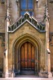 дверь собора готская Стоковое Изображение