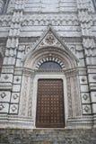 Дверь собора Сиены Стоковое фото RF