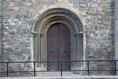 Дверь собора Christchirch Дублина, Ирландии Стоковые Изображения
