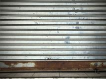 Дверь стали завальцовки виньетки Стоковые Фотографии RF