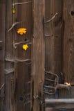 Дверь старого амбара деревянная Стоковое Изображение