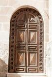 Дверь старой церков деревянная Стоковые Изображения RF