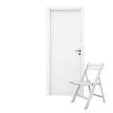 дверь стула стоковое изображение