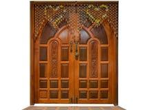 Дверь сделанная из древесины Стоковые Изображения RF