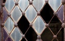 Дверь с сломленным стеклом Стоковое Изображение RF