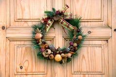 дверь украшения рождества Стоковая Фотография