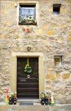 Дверь украшенная для пасхи в tauber der ob rothenburg Стоковые Фото