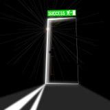 Дверь успеха Иллюстрация вектора
