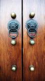 дверь фарфора старая Стоковая Фотография