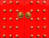 дверь фарфора Стоковая Фотография