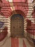 Дверь хлебной биржи строя изящное искусство Бристоля стоковое фото