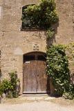 Дверь церков Castellvell в Solsona, Лериде, Испании Стоковая Фотография RF