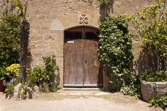 Дверь церков Castellvell в Solsona, Лериде, Испании Стоковые Изображения RF