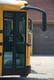 Дверь школьного автобуса Стоковые Изображения RF